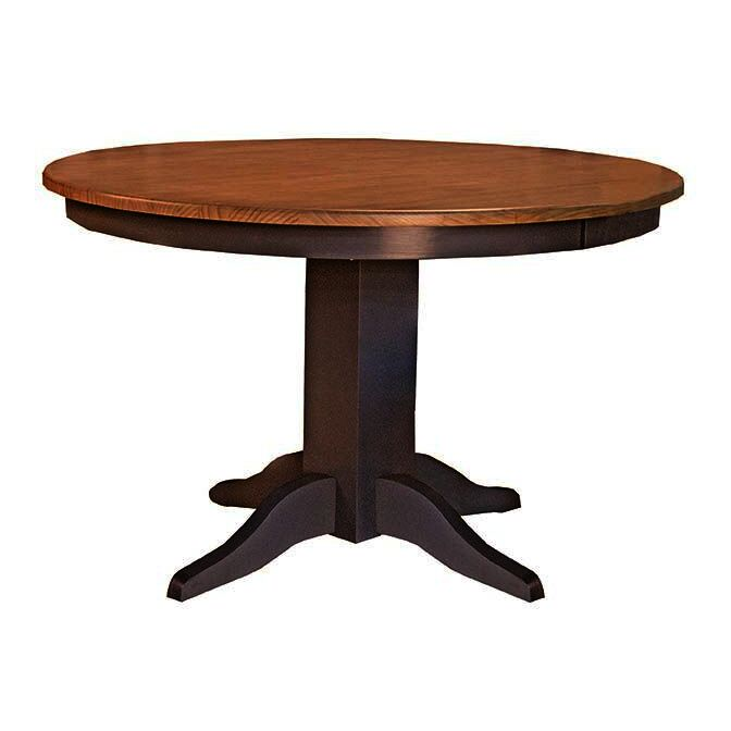 A America Port Townsend 48 Inch Round Dining Table In Gull Grey