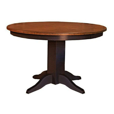 A-America Port Townsend 48 Inch Round Dining Table in Gull Grey & Seaside Pine