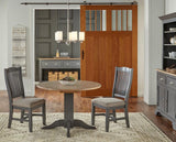 A-America Port Townsend 5 Piece Double Drop Leaf Dining Room Set in Gull Grey & Seaside Pine