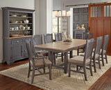 A-America Port Townsend Trestle Dining Table w/Leaf in Gull Grey & Seaside Pine