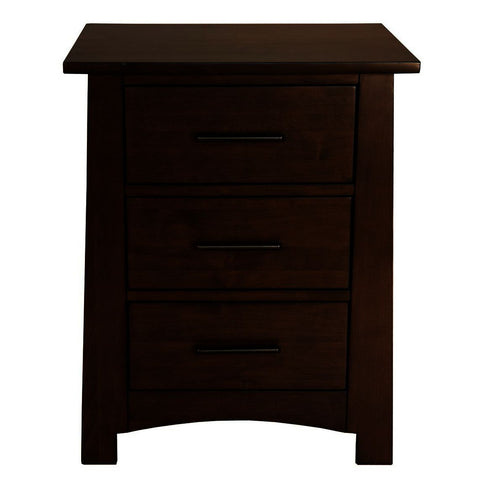 A-America Sodo 3-Drawer Nightstand in Sumatra Brown