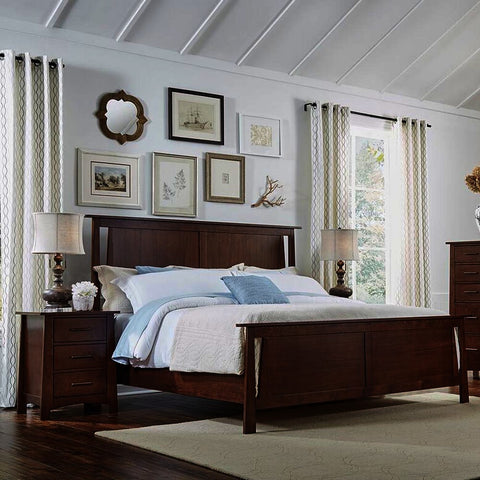 A-America Sodo 3 Piece Panel Bedroom Set in Sumatra Brown