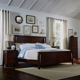 A-America Sodo 4 Piece Panel Bedroom Set in Sumatra Brown