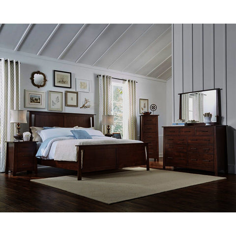A-America Sodo 5 Piece Panel Bedroom Set in Sumatra Brown