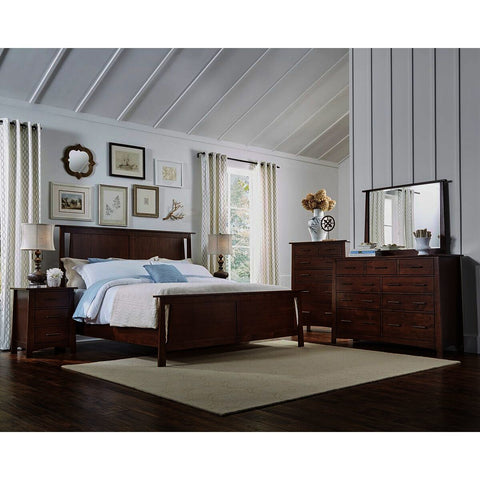 A-America Sodo 5 Piece Panel Bedroom Set w/Chest in Sumatra Brown