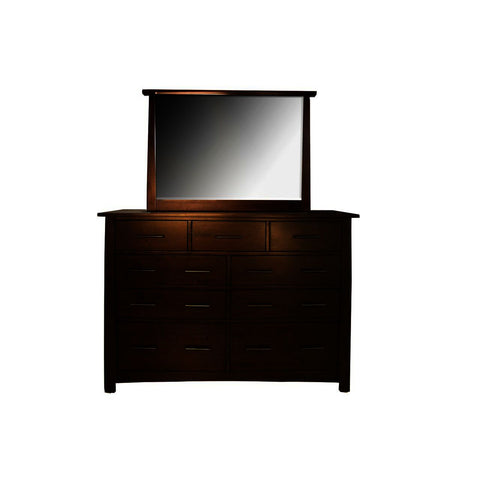 A-America Sodo 9-Drawer Dresser w/Mirror in Sumatra Brown