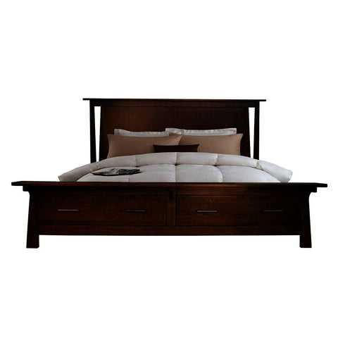 A-America Sodo King Storage Bed w/Integrated Bench in Sumatra Brown