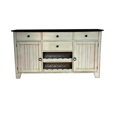 A-America Toluca 66 Inch Server in Chalk & Cocoa Bean