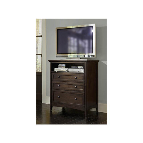 A-America Westlake Media Chest, Dark Mahogany Finish