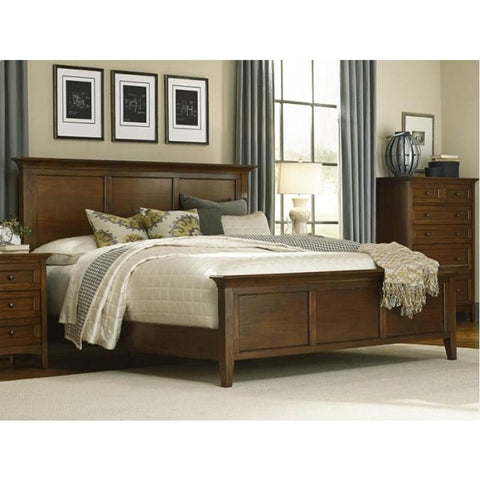 A-America Westlake Platform Bed Cherry Brown Finish