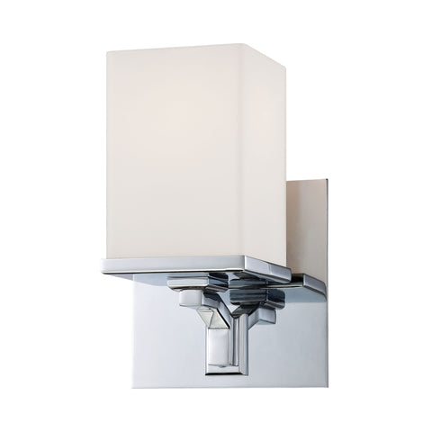 Alico Ramp 1L Vanity White Opal Glass / Chrome Finish