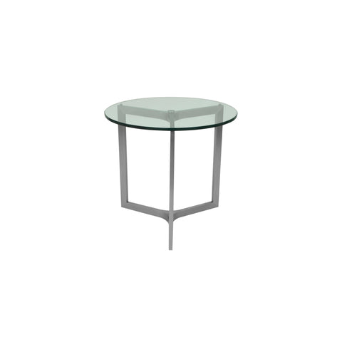 Allan Copley Adrienne Round End Table with Lay-on Glass
