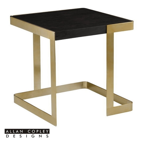 Allan Copley Caroline End Table In Brushed Champagne Stainless Steel