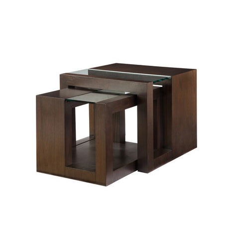 Allan Copley Dado Nesting End Table In Espresso on Kulin Set of 2