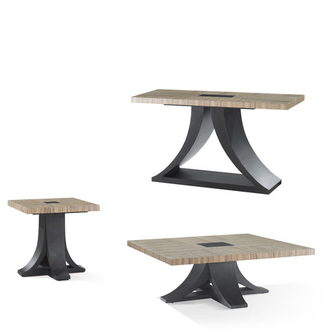 Allan Copley Designs Bonita 3 Piece Coffee Table Set in Zebrawood
