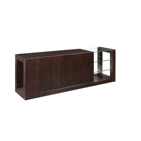 Allan Copley Designs Dado 2-Door - 2-Drawer Buffet w/ Glass Shelves in Espresso