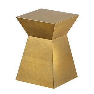 Allan Copley Designs Gretchen End Table in Brushed Champagne