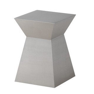 Allan Copley Designs Gretchen End Table in Brushed Silver