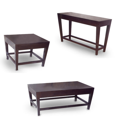 Allan Copley Designs Marion 3 Piece Coffee Table Set in Espresso