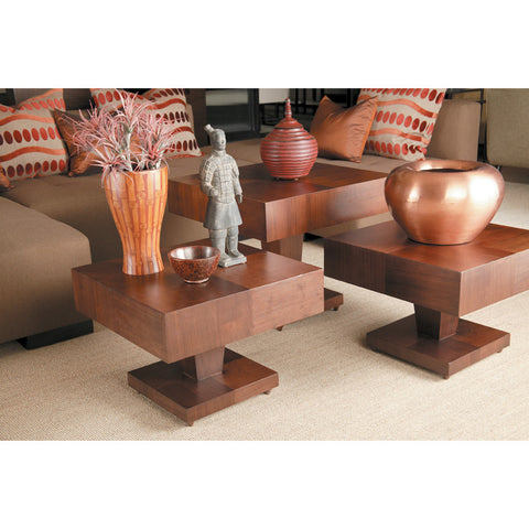 Allan Copley Designs Sarasota 3 Piece Coffee Table Set in Walnut