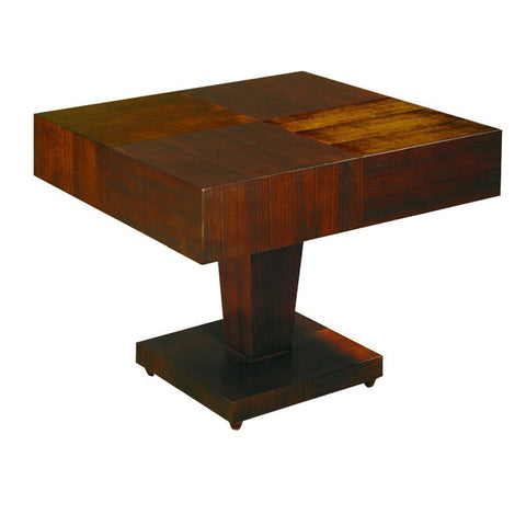 Allan Copley Designs Sarasota Square Occasional Table w/ Pedestal Base in Walnut