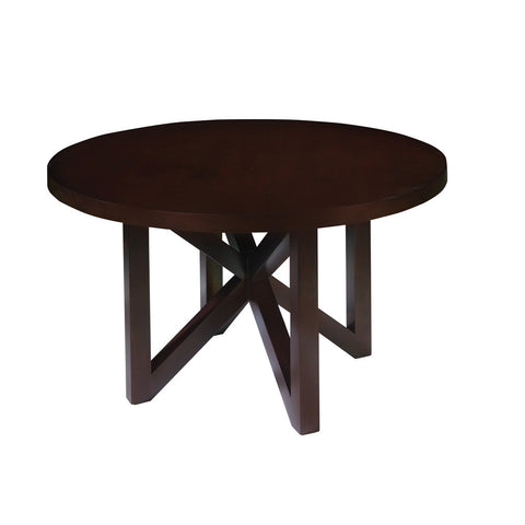 Allan Copley Designs Snowmass Round 54 Inch Dining Table in Espresso