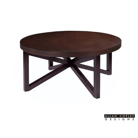 Allan Copley Designs Snowmass Round Cocktail Table in Espresso