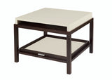 Allan Copley Designs Spats 1-Drawer Square End Table in Espresso w/ White on Ash Top