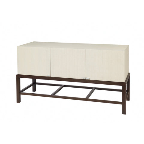 Allan Copley Designs Spats 3-Door Buffet in Espresso w/ White on Ash Top