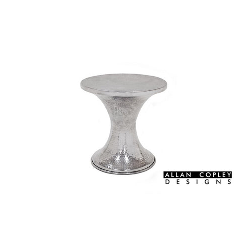 Allan Copley Montego End Table In Polished Cast Aluminum
