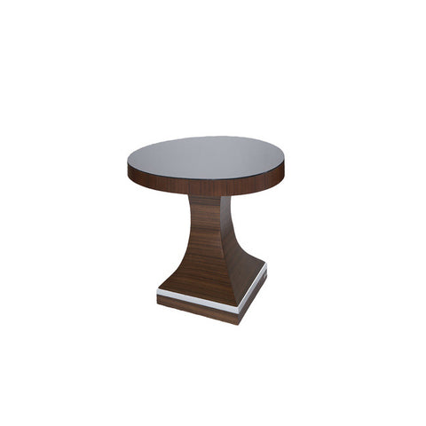 Allan Copley Omega End Table Base In Mahogany on Asian Walnut