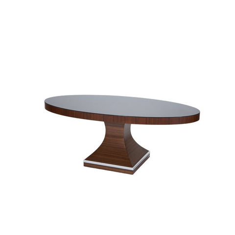 Allan Copley Omega Oval Cocktail Table In Mahogany on Asian Walnut