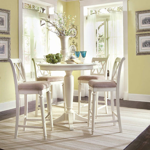 American Drew Camden-Light 5 Piece Bar Height Ped Dining Room Set