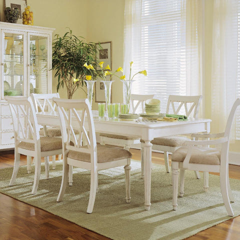 American Drew Camden-Light 7 Piece Leg Dining Room Set