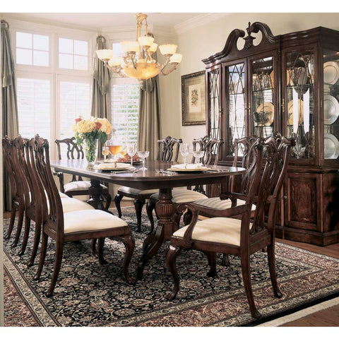 American Drew Cherry Grove 10 Piece Dining Room Set in Antique Cherry
