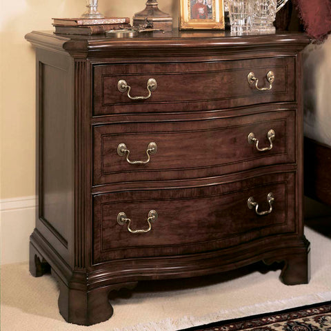 American Drew Cherry Grove 3 Drawer Nightstand in Antique Cherry