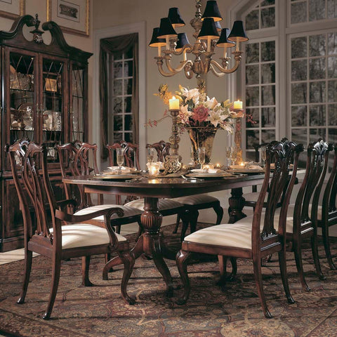 American Drew Cherry Grove 7 Piece Dining Room Set in Antique Cherry