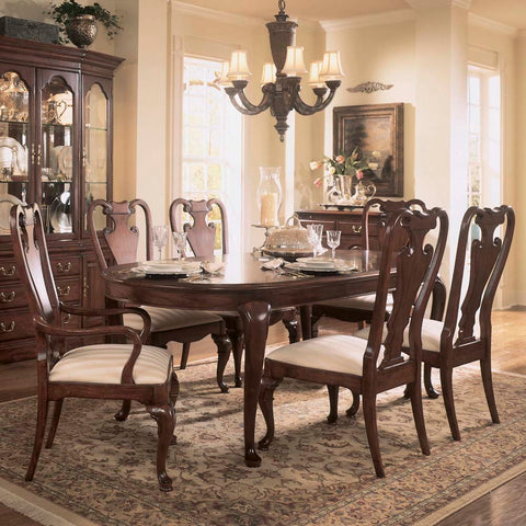 American Drew Cherry Grove 7 Piece Leg Dining Room Set in Antique Cherry