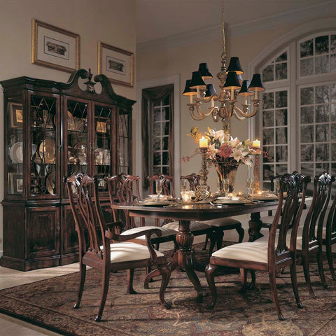 American Drew Cherry Grove 8 Piece Dining Room Set in Antique Cherry