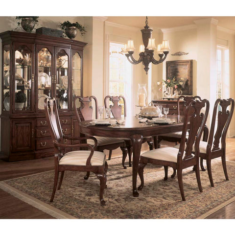 American Drew Cherry Grove 9 Piece Leg Dining Room Set in Antique Cherry