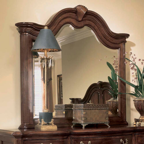 American Drew Cherry Grove Arched Mirror in Antique Cherry