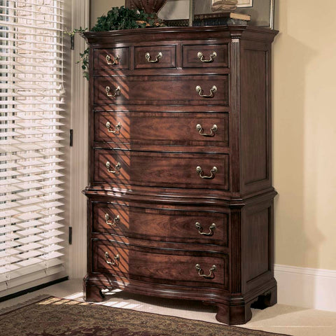 American Drew Cherry Grove Chest On Chest in Antique Cherry