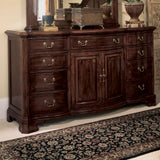 American Drew Cherry Grove Door Triple Dresser in Antique Cherry
