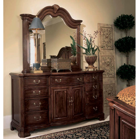 American Drew Cherry Grove Door Triple Dresser w/ Mirror