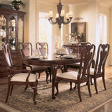American Drew Cherry Grove Oval Leg Dining Table in Antique Cherry