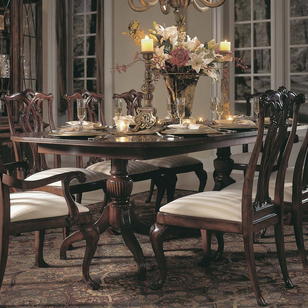 American Drew Cherry Grove Pedestal Dining Table In