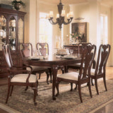 American Drew Cherry Grove 8 Piece Leg Dining Room Set in Antique Cherry