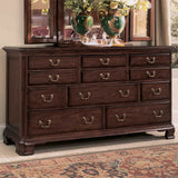 American Drew Cherry Grove Triple Dresser in Antique Cherry