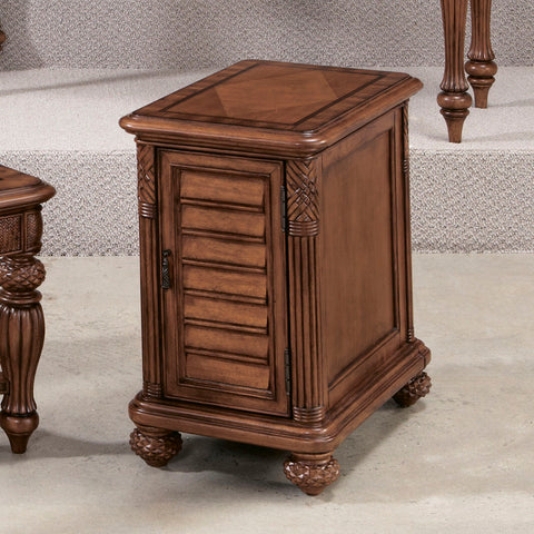 American Drew Grand Isle Chairside Chest in Amber