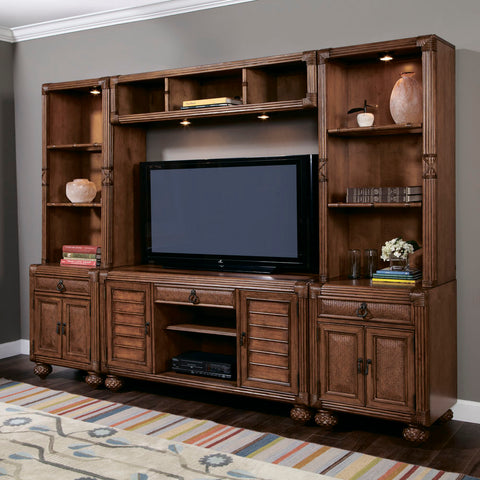American Drew Grand Isle Entertainment Center in Amber